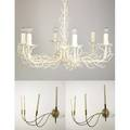 Modern lighting three items dane creath enameled iron twig chandelier with dane creath designs label together with a pair of large wall sconces wagnerwoodruff co label chandelier 24 x 34 dia