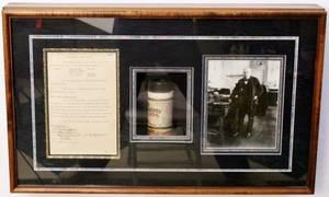 Thomas Edison Signed Document in Shadow Box