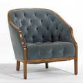 Ward bennett brickel velvet and oak club chair 32 x 30 12 x 34