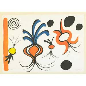 Alexander calder american 18981976 two untitled lithographs three onions 1969 both signed and numbered out of an edition of 90 both 21 12 x 29 12 sheet