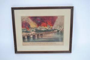 A Currier  Ives Print The Fall of Richmond VA