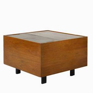 George nelson herman miller cabinet 1950s walnut and lacquered wood unmarked 22 12 x 34 sq