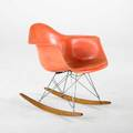 Charles  ray eames zenith  herman miller ropeedge rocking chair 1950s fiberglass zincplated steel birch unmarked 27 x 25 x 26