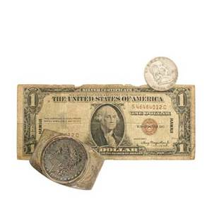 American coins and currency approx 380 items includes 1935 hawaii 100 bill 1955 franklin half dollar etc 5000 total face value silver