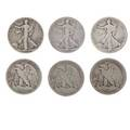 Us half dollars approx ninetyfour items include 1916 1916d 1917s rev 1919 1919d 1919s 1921s 1938d 2 1955 ms 60 etc 3700 face silver
