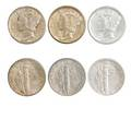 Mercury dimes 19351939 inclusive with all mints for each year