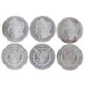 Morgan silver dollars three items 1878s ms64 1878cc au55 1878 7f uncirculated details