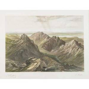 18th  19th c british engravings seven works of art james dufield hardy 17981863 lithograph in colors view from goatfell isle of arran 1848 samuel  nathaniel buck 18th c three handcol