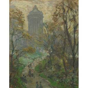 Fred wagner american 18611940 pastel on paper of grants tomb and the hudson river new york framed signed 21 x 16 sight