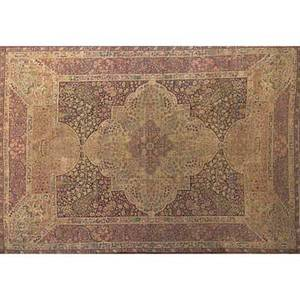 Laver kirman persian rug red and beige center medallion with floral design on dark blue ground early 20th c 199 x 138