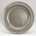 American pewter charger by thomas danforth 18th19th c marked 13 14 dia