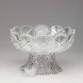 American brilliant period cut glass punch bowl on pedestal base complete with twelve similar cups early 20th c unmarked 10 12 x 16 dia