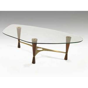 Edward wormley dunbar low table no 5309 usa ca 1953 rosewood brass and glass unmarked 16 12 x 58 x 31 12