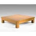Christian liaigre holly hunt coffee table usa 1990s white oak brass label 15 x 59 sq