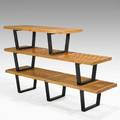 George nelson herman miller set of three slat benches 1950s birch and lacquered wood unmarked largest 14 x 72 x 19 middle 68 smallest 48