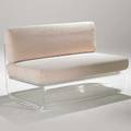 Charles hollis jones loveseat usa 1960s acrylic and cotton unmarked 23 x 51 12 x 33