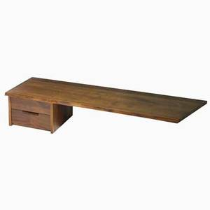 George nakashima wall hanging console usa american black walnut signed with clients name 12 x 60 12 x 18 12