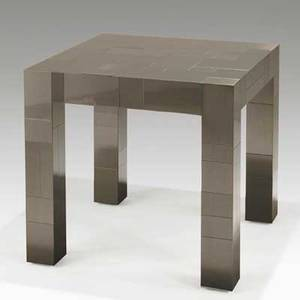 Paul evans directional cityscape lamp table usa 1970s chromedsteel signed paul evans 26 12 x 28 x 28
