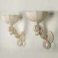 Henri samuel pair of classical wall sconces france 1970s plaster electrified with single socket unmarked 19 x 11 34 x 14