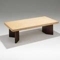 Paul frankl johnson furniture co low table no 5016 usa 1948 cork and mahogany 14 x 48 x 24 12