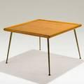 Th robsjohngibbings widdicomb low table usa 1950s mahogany and brass widdicomb decal 22 x 34 x 34