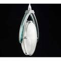 Fontana arte pendant lamp italy 1960s glass and polished chrome unmarked 25 34 x 9 x 4