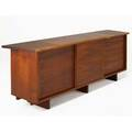 George nakashima threedoor cabinet usa c 1962 american black walnut provenance available signed with clients name 32 x 95 x 22