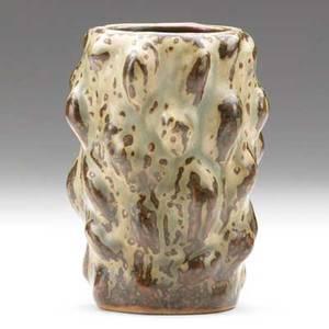 Axel salto royal copenhagen glazed stoneware budding vase green stamp royal copenhagen denmark 3 lines etched salto 20679 4 34 x 3 34