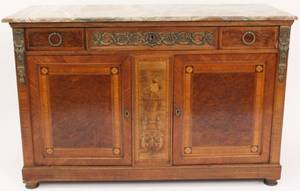 Marble Top Inlaid Marquetry Server