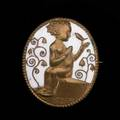 Berthold loffler wiener werkstatte brooch austria ca 1909 copper white enamel note the smallest of the three sizes unusual in copper provenance baltimore museum of art to benefit future a