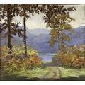 Henry stephens eddy american 18781944 autumns glory oil on canvas framed signed 36 x 40 exhibition exhibition of neighboring art organization the national arts club april 1 may 1