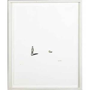 Marcel dzama canadian b 1974 untitled watercolor and ink on paper framed signed 12 12 x 9 34 sheet provenance private collection new york