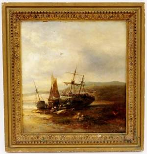 Franz Emil Krause Shipwreck Oil