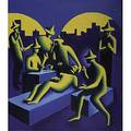 Mark kostabi american b 1960 real estate deal 1983 oil on canvas signed and dated 48 x 42 literature basil chattington kostabi the early years vanity press 1990 illustrated copy o