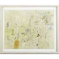 David shaw american b 1965 untitled mixed media on paper framed initialed 8 12 x 11 sheet provenance private collection new york