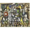 Richard pousettedart american 19161992 untitled oil gouache and ink on paper 6 12 x 8 sheet provenance tallarekweile collection new york