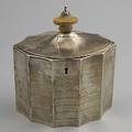 English silver tea caddy henry chawner london ca 1792 10925 ot 5 14 x 6 x 3 12