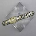 Gentlemans john hardy link bracelet sterling interspersed with links of 18k yg and 18k yg clasp mark for john hardy 671 gs 8