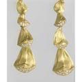 Pinecone seed diamond earrings diamonds approx 50 ct tw in 18k yg articulate postbacks 117 gs gw 1 34