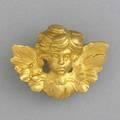 Gold cherub brooch 18k yg 139 gs 1 x 1 14