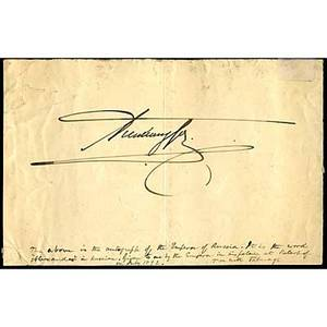 World leaders and personalities autographs approx thirtyfive 19th20th c includes edward prince of wales admiral kato arthur balfour alexander iii armando diaz etc