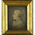 19th c military portrait watercolor on paper depicting richard somers 17791804 master commandant in the united states navy framed 5 12 x 4 12 sight