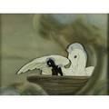 Walt disney courvoisier cel fantasia mother pegasus and baby ca 1940 courvoisier label on verso 9 12 x 13 sight