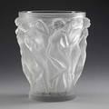Lalique bacchantes vase 20th c marked lalique france 9 12 x 8 12