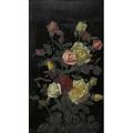 George cochran lambdin american 18301896 two oil on panel paintings both framed roses 1883 and roses 1881 signed and dated lower left 24 x 14