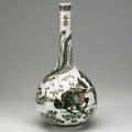 Chinese porcelain vase gourdshaped with famille verte floral and animal displays 19th20th c 17