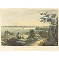 William guy wall american 17921864 and john hill american 17701850 aquatint in colors new york from weehawken 1823 framed 15 34 x 25 provenance the henry batterman collection ever