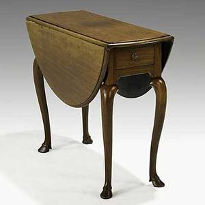 Queen anne oval dropleaf table mahogany with one drawer swingout legs and hoof feet ca 1750 28 12 x 35 x 13