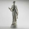 After ferdinand vichi italian 18751945 marble sculpture of a greek woman holding a lyre and horn signed f vichi 12 x 10 12 x 22