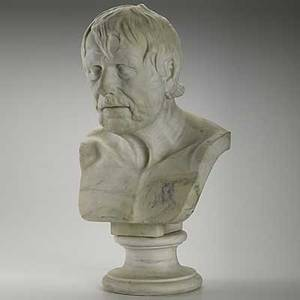 Italian classical marble bust depicting a roman statesman or philosopher 19th c loss to nose 23